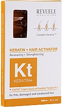 Profumi e cosmetici Attivatore per capelli - Revuele Keratin+ Ampoules Hair Restoration Activator