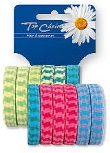 Elastici per capelli 12 pezzi, mix di colori, 22210 - Top Choice — foto N1
