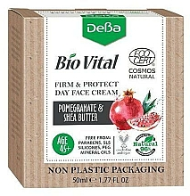 Profumi e cosmetici Crema viso giorno 45+ - DeBa Bio Vital Firm and Protect Day Face Cream with Pomegranate Extract