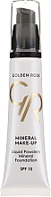 Profumi e cosmetici Fondotinta - Golden Rose Liquid Powdery Mineral Foundation