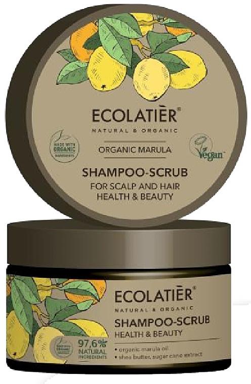 """Scrub-shampoo per capelli e cuoio capelluto """"Salute e bellezza"""" - Ecolatier Organic Marula Shampoo-Scrub"""