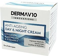 Profumi e cosmetici Crema anti-età al collagene - Derma V10 Innovations Anti-Ageing Day & Night Cream
