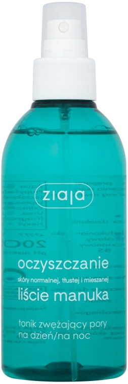 Tonico purificante per restringere i pori giorno/notte - Ziaja Manuka Tree Purifying Astringent Face Toner