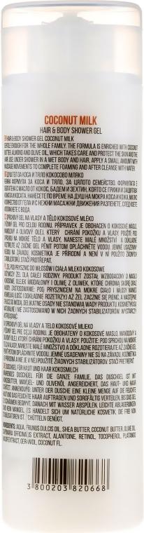 Gel doccia per capelli e corpo - Hristina Stani Chef's Hair And Body Shower Gel Coconut Milk — foto N2