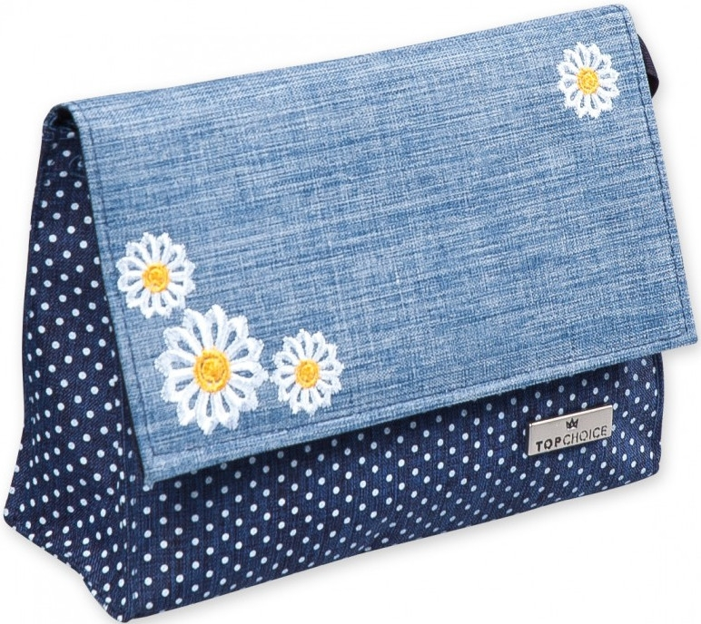 "Beauty case ""Camomiles"", 98185, con fiori - Top Choice"