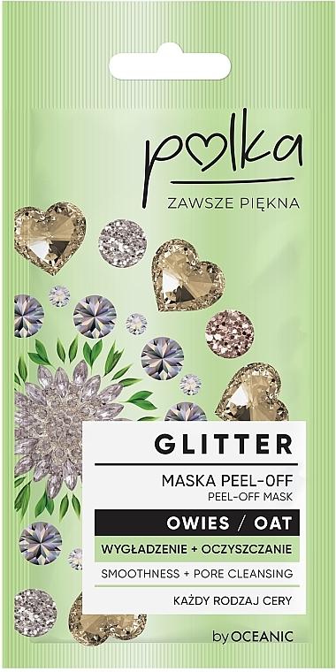 Maschera detergente levigante all'avena - Polka Glitter Peel Off Mask Oat