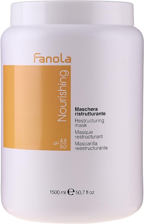 Maschera nutriente rivitalizzante per capelli secchi e sfibrati - Fanola Nourishing Restructuring Mask