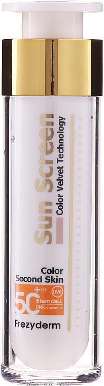 Crema solare viso - Frezyderm Sun Screen Color Velvet Face Cream SPF 50+