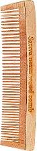 Profumi e cosmetici Pettine in legno per capelli, 19 cm - Sattva Neem Wood Comb