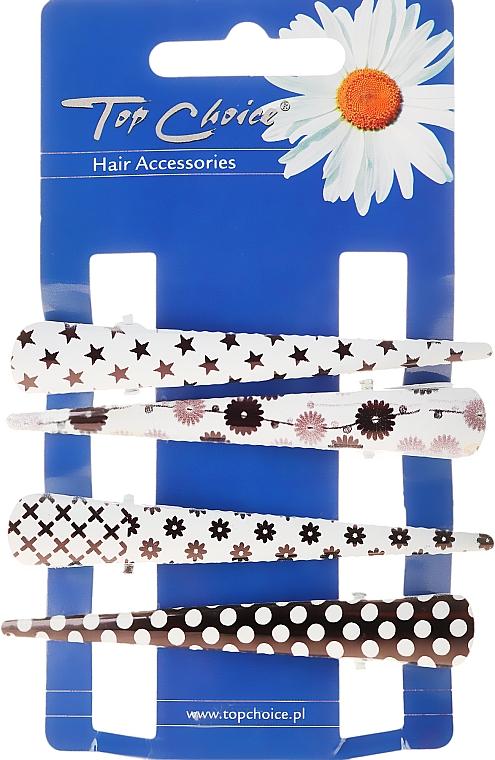 Pinzette capelli, 25099, bianco-nero - Top Choice