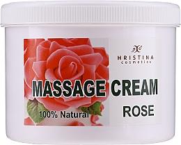 Profumi e cosmetici Crema da massaggio per viso e corpo - Hristina Cosmetics Massage Cream Bulgarian Rose