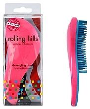 Profumi e cosmetici Spazzola per capelli, rosa scuro - Rolling Hills Detangling Brush Travel Size Dark Pink