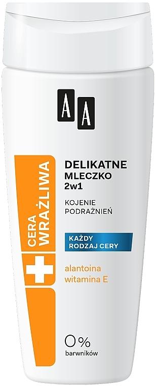 Latte struccante delicato 2in1 - AA Technolgia Wieku Cera Wrażliwa Delicate Milk 2 in 1