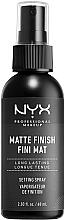 Profumi e cosmetici Spray-fissatore trucco con finitura opaca - NYX Professional Makeup Matte Finish Long Lasting Setting Spray