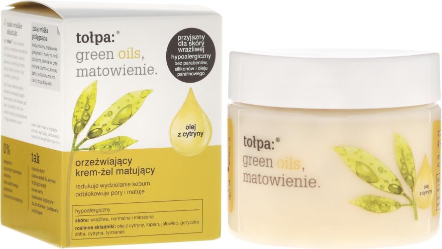 Crema-gel viso opacizzante rinfrescante - Tolpa Green Oils