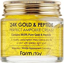 Profumi e cosmetici Crema con oro e peptidi - FarmStay 24K Gold & Peptide Perfect Ampoule Cream