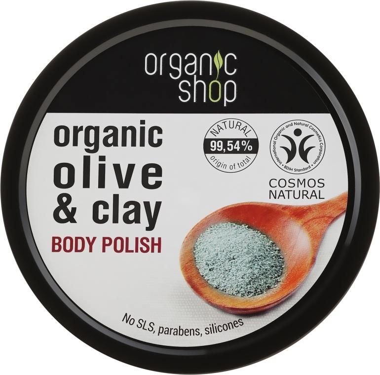 """Scrub corpo """"Argilla blu"""" - Organic Shop Body Scrub Organic Olive & Clay"""