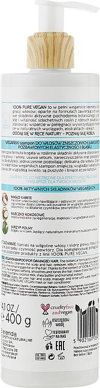 Shampoo per capelli danneggiati - Bielinda 100% Pure Vegan Shampoo for Damaged Hair — foto N2