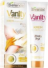 """Profumi e cosmetici Crema depilatoria 2in1 """"Polvere d'oro"""" - Bielenda Vanity Soft Touch Depilatory Cream"""
