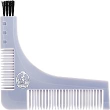 Profumi e cosmetici Stencil con pettine per barba, grigio - Man'S Beard