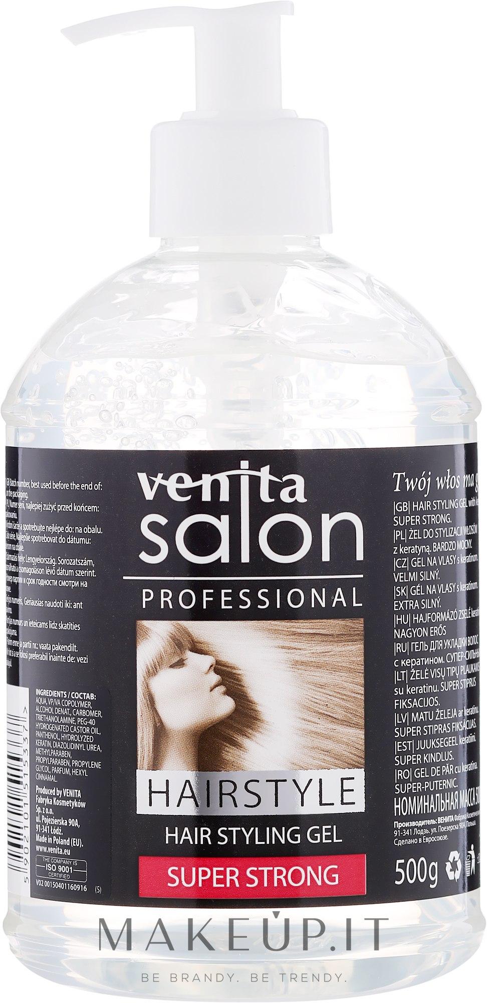 Gel per capelli - Venita Salon Professional Styling Gel Super & Mega Strong — foto 500 g