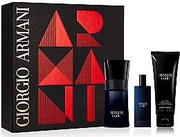 Profumi e cosmetici Giorgio Armani Code - Set (edt/50ml + edt/15ml + sh/gel/50ml)