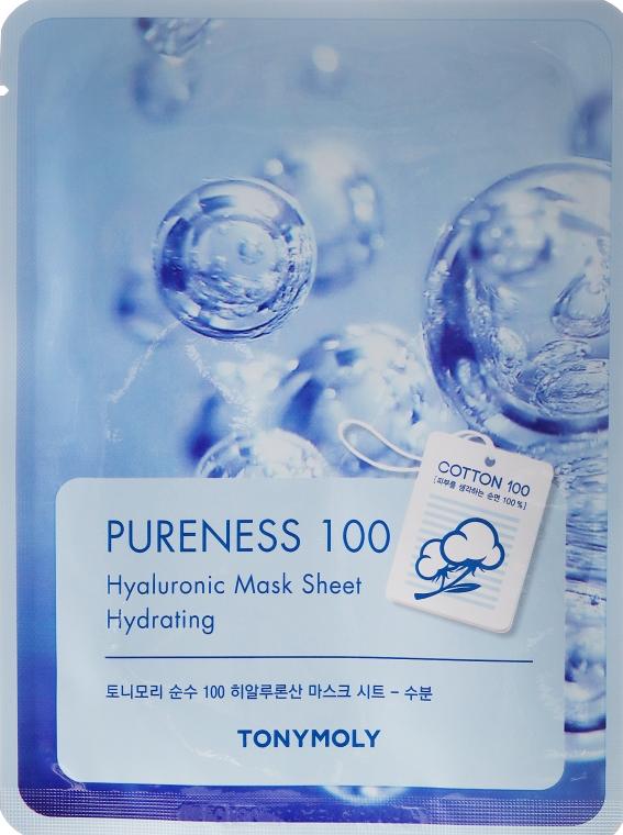 Maschera in tessuto con acido ialuronico - Tony Moly Pureness 100 Hyoluronic Mask Sheet  — foto N1