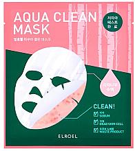 Profumi e cosmetici Maschera in biocellulosa - Elroel Aqua Clean Mask