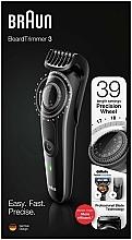 Profumi e cosmetici Trimmer per barba e baffi, nero - Braun BeardTrimmer3 BT3242