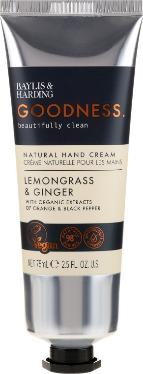 Crema mani - Baylis & Harding Goodness Lemongrass & Ginger Natural Hand Cream