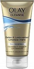 Profumi e cosmetici Gel-scrub detergente - Olay Cleanse Detox & Luminosity Facial Cleansing Gel