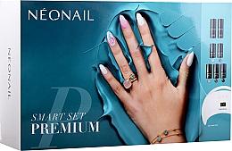 Profumi e cosmetici Kit gel unghie per principianti - NeoNail Professional Smart Set Premium (n/polish/5x3ml + n/base/7.2ml + n/top/7.2ml + lamp/1pc + n/cleaner/50ml + n/remover/50ml + n/pads/250pcs + nail/file/2pcs)