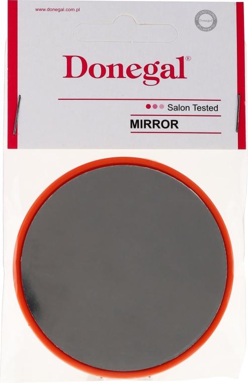 Specchio rotondo compatto, 9511, 7 cm, arancione - Donegal