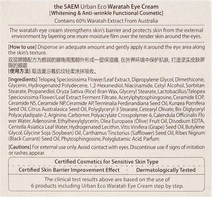 Crema contorno occhi con estratto di telopea - The Saem Urban Eco Waratah Eye Cream — foto N3