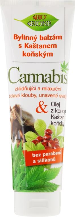 Balsamo per i piedi con castagne e olio di canapa - Bione Cosmetics Cannabis Herbal Ointment With Horse Chestnut