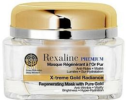 Profumi e cosmetici Maschera viso ringiovanente con particelle d'oro 24K - Rexaline Line Killer X-Treme Gold Radiance Mask