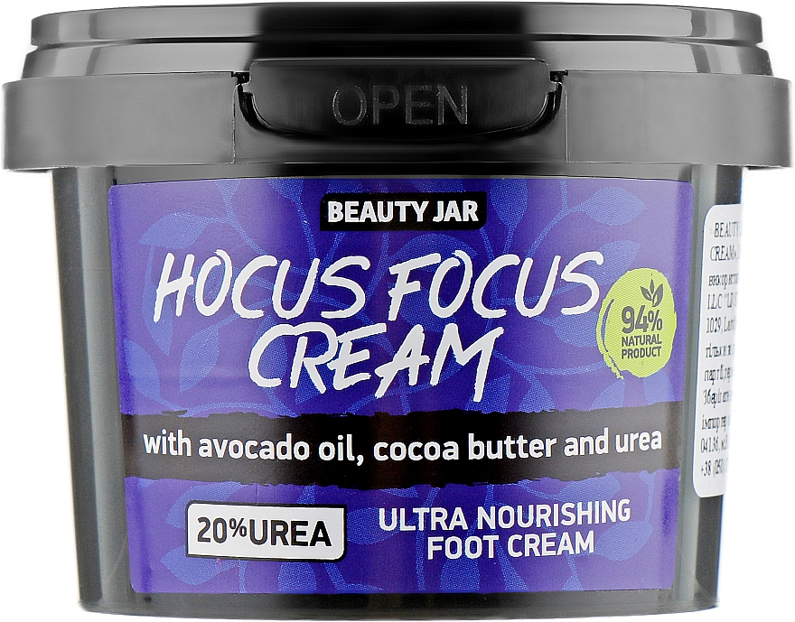 Crema piedi - Beauty Jar Hocus Focus Cream Ultra Nourishing Foot Cream