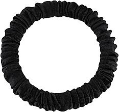 "Profumi e cosmetici Elastico capelli, in seta naturale, nero, ""Skinny"" - Makeup Skinny Scrunchie Black"