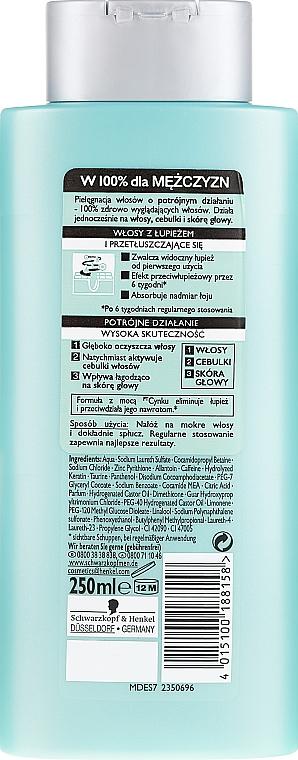 Shampoo antiforfora - Schwarzkopf Men Deep Effect 3 Zinc Anti-Dandruff+Oil Control Shampoo — foto N2