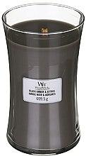 Profumi e cosmetici Candela profumata in bicchiere - WoodWick Hourglass Candle Black Amber And Citrus