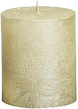 Profumi e cosmetici Candela cilindrica Metallic Ivory, 80/68 mm - Bolsius Candle