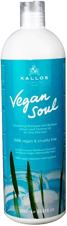 Shampoo volumizzante con estratto di bambù e olio di cocco - Kallos Cosmetics KJMN Vegan Soul Volumizing Shampoo
