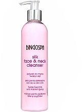 Profumi e cosmetici Latte viso detergente con proteine della seta - BingoSpa Silk Face&Neck Cleanser