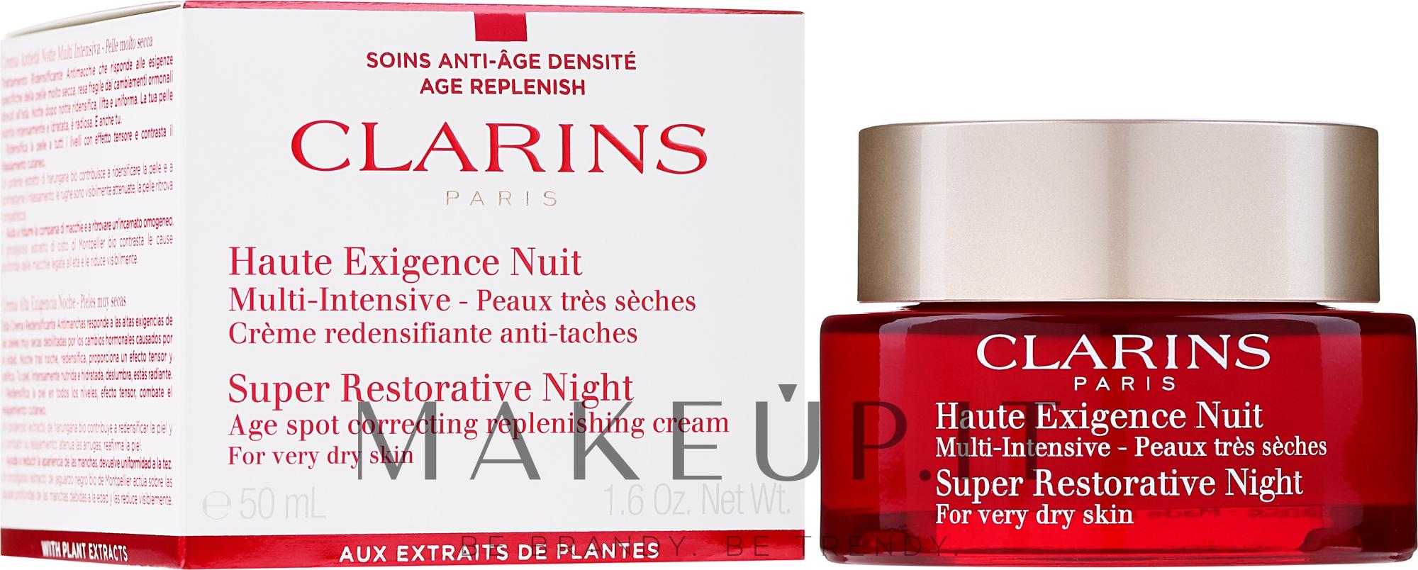 Crema rigenerante da notte per pelli molto secche - Clarins Super Restorative Night For Very Dry Skin — foto 50 ml