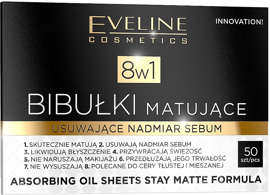 Salviette opacizzante per viso - Eveline Cosmetics 8in1