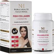 Profumi e cosmetici Integratore alimentare per capelli, pelle e unghie - Noble Health Kolagen + Keratin