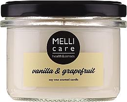 """Profumi e cosmetici Candela profumata """"Vaniglia e Pompelmo"""" - Melli Care Vanilla & Grapefruit Soy Wax Scented Candle"""