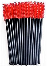 Profumi e cosmetici Scovolini ciglia, in nylon, nero e rosso - Novalia Group