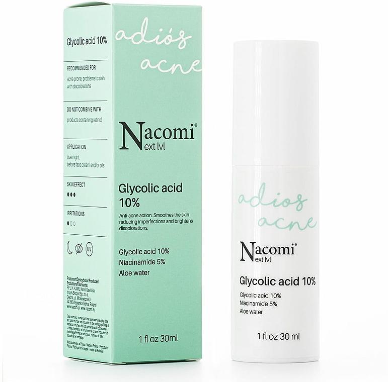 Siero peeling all'acido glicolico al 10%, da notte - Nacomi Next Level Glycolic Acid 10%