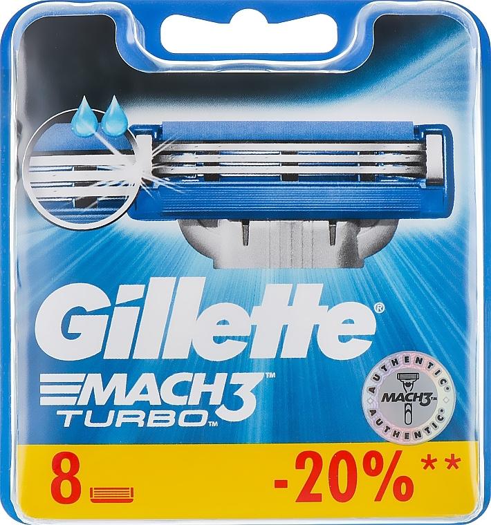 Lamette sostituibili, 8 pezzi - Gillette Mach3 Turbo — foto N4